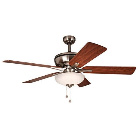 harbor ceiling fan with light shop harbor eco 52 in brushed nickel downrod