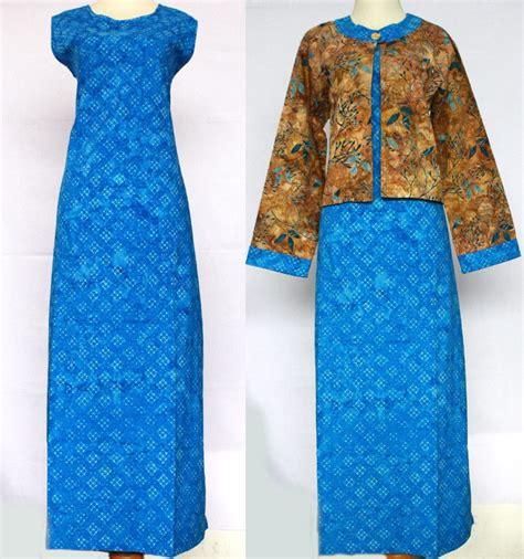Cheila Tas Ransel Wanita gamis batik biru baju kerja batik
