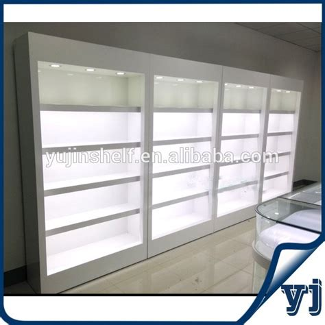 Shop Display Wooden Furniture Showcase Design / Wall Glass Display Case Showcase W/lights   Buy