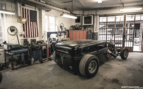 Rod Garages by Rat Rod Wallpapers Wallpaper Cave