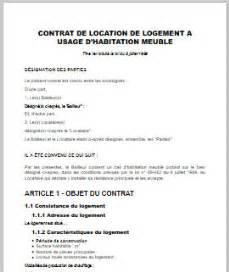 contrat location appartement meubl 233 immobilier en image