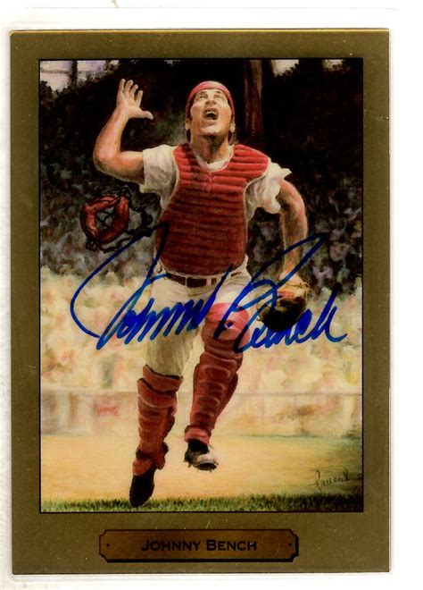 how much is a johnny bench baseball card worth main line autographs