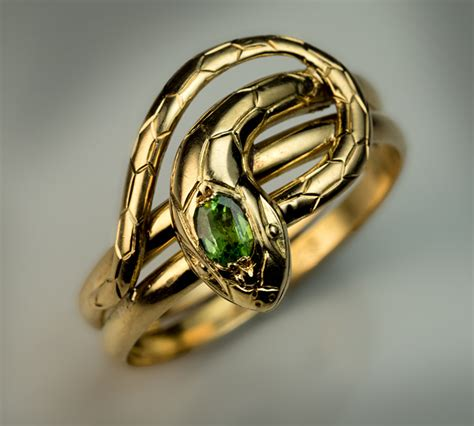 Snakes On A Ring Snakes On A Necklace Snakes By Sydney Evan by Antique Snake Rings Gold And Demantoid Ring