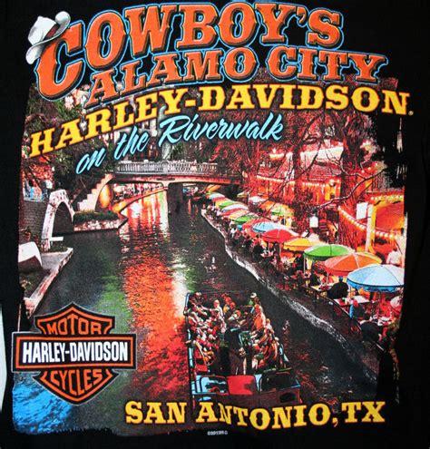 Alamo Harley Davidson by Harley Davidson San Antonio Medium T Shirt Cowboys