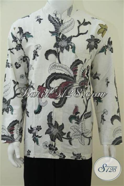 Kemeja Pria Spark Lp Putih baju koko pria warna putih eksklusif elegan batik kerah
