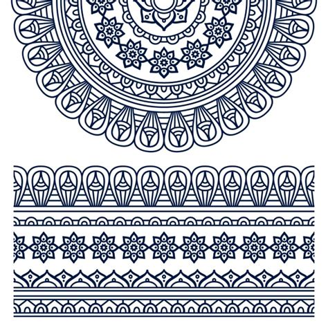 design ornaments boho style ornament design vector free