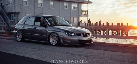 subaru wrx hatchback stance going wider john hall s widebody 2006 wrx wagon