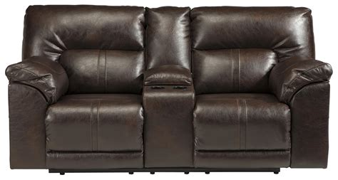 reclining loveseat w console double reclining loveseat w console by benchcraft wolf
