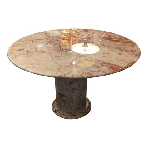 pink dining table 48 quot pink and marble dining table with pink and