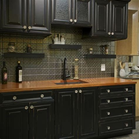 black kitchen cabinets with wood countertops kitchen appliances maytag serving christiana de Black Kitchen Cabinets Pinterest