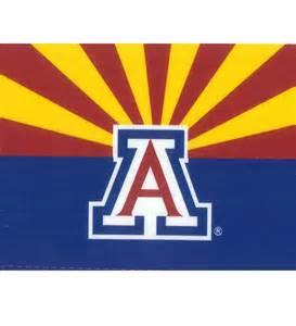 of arizona colors magnet az state flag with block a of arizona
