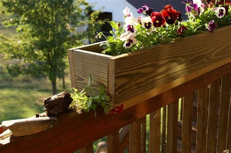 deck railing planter boxes planter boxes for deck railings