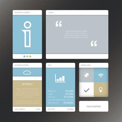 ui design elements vector fresh vector illustration minimal infographic flat ui