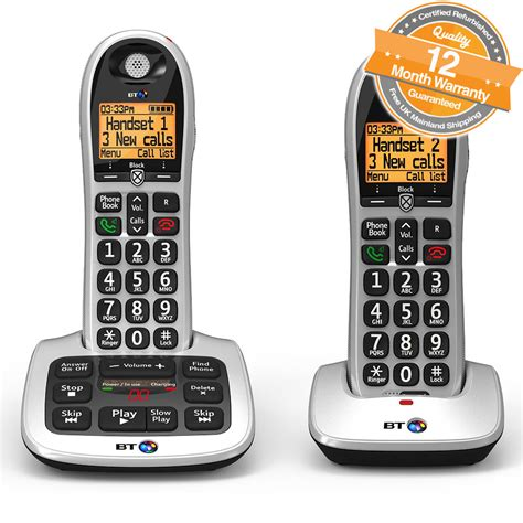 call bt mobile bt 4600 big button digital cordless telephones with