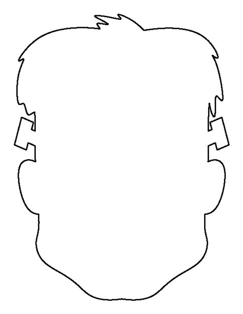 printable head templates frankenstein head pattern use the printable outline for