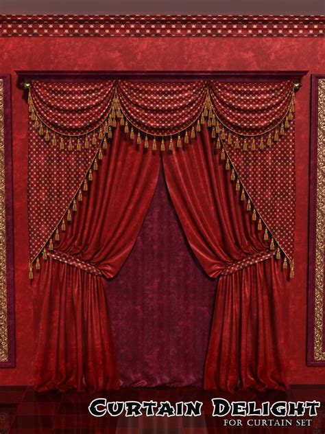 classic curtains curtain delight for classic curtains set 3d figure assets