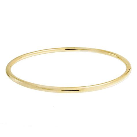 Polished Gold Filled Tube Stackable Bangle Bracelet
