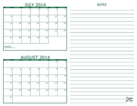 august 2014 calendar template 2 month calendar 2014