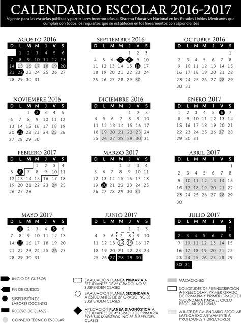 Calendario Escolar Uacj Calendario Escolar Oficial Sep 2017 2018