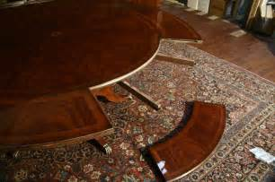 Dining Table With Leaves by Perimeter Table Round Dining Table W Perimeter Leaves Ebay