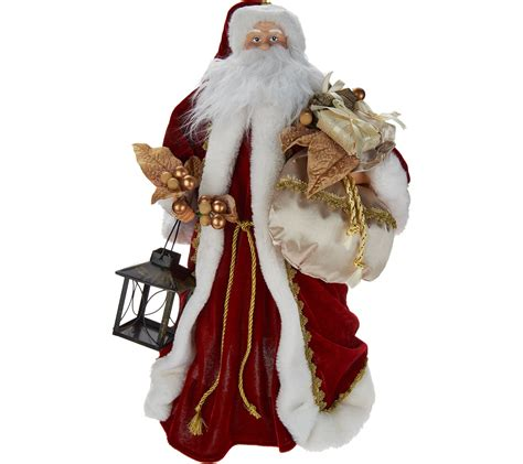 light up santa tree topper silent lights santa tree topper with moving laser projections page 1 qvc