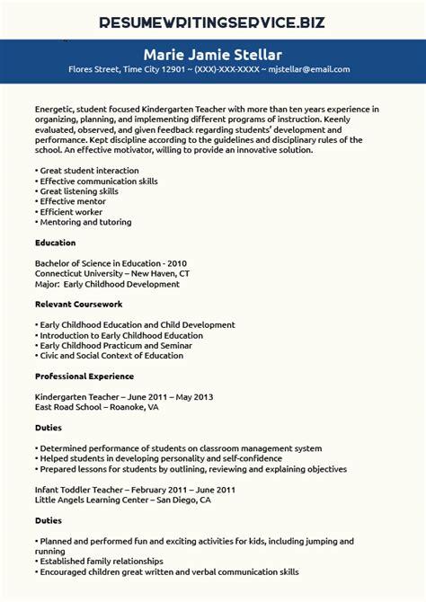 resume kindergarten teacher resume samples