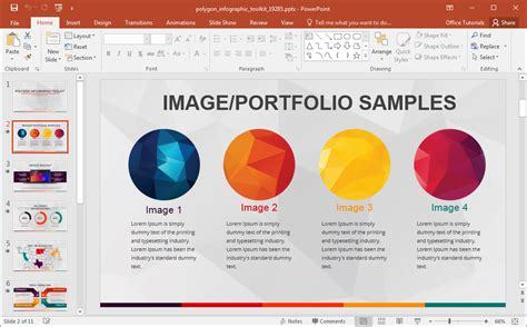infographic template powerpoint animated polygon infographic powerpoint template
