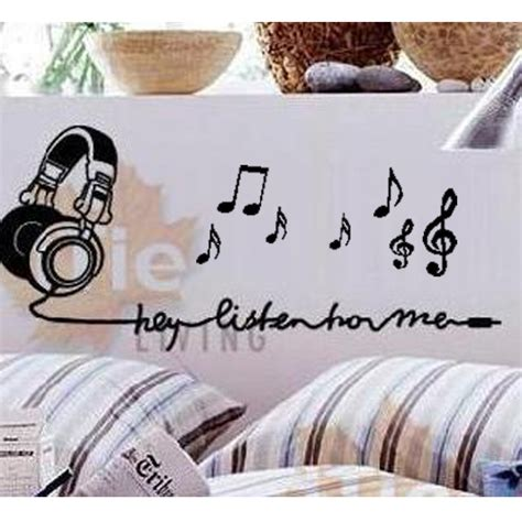free shipping listen note bedroom living room wall
