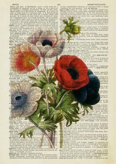 anemone dictionary vintage anemone print art pinterest imprimir sobres