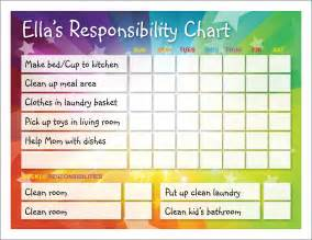 responsibility chart template pursuits in homemaking responsibility chart