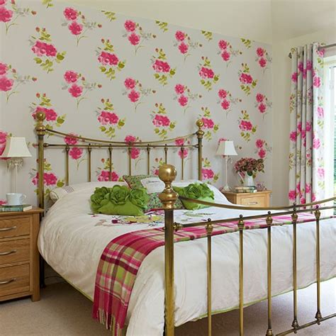 floral bedroom white bedroom with floral wallpaper decorating housetohome co uk