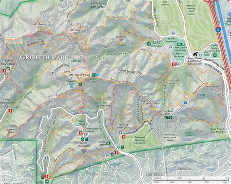 griffith park map dan s hiking pages griffith park maps