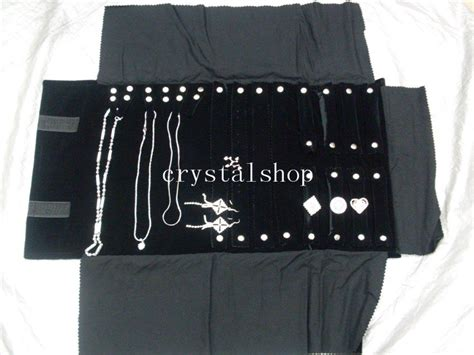 how to make a jewelry roll bag free shipping wholesale black velvet necklace ring jewelry