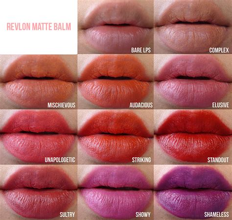 Lipstik Hughes lip swatches of all the revlon matte balms makeupaddiction