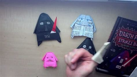How To Fold Darth Paper - darth paper strikes back an origami yoda book by tom
