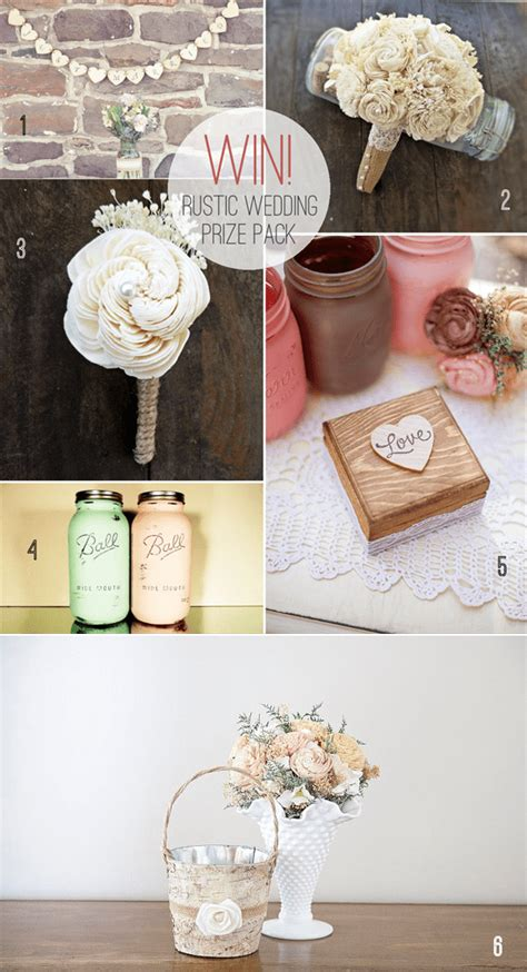 Wedding Prize Giveaways - rustic wedding prize pack giveaway