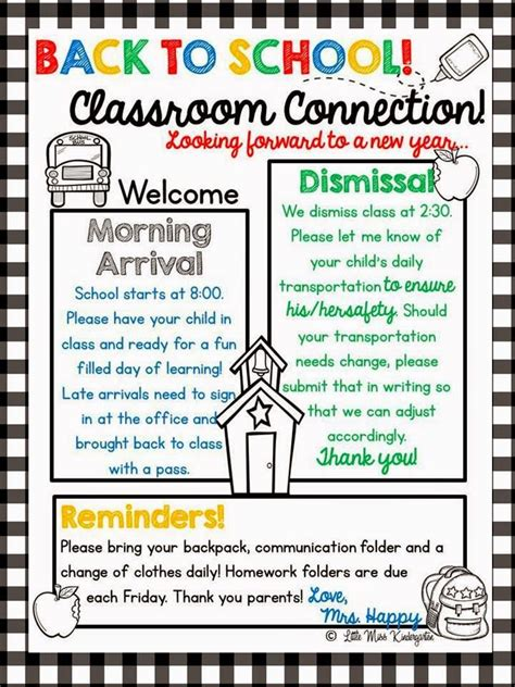 Little Miss Kindergarten Lessons From The Little Red Schoolhouse A Year Of Editable Newsletter Classroom Letter Template