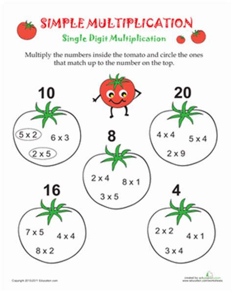 Simple Multiplication Worksheets by Simple Multiplication Worksheet Education