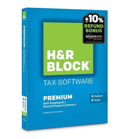 H R Block Amazon Gift Card - amazon com h r block 2015 premium state tax software refund bonus offer mac