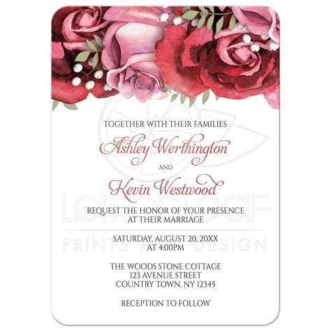 Wedding Invitations Burgundy by Wedding Invitations Burgundy Pink