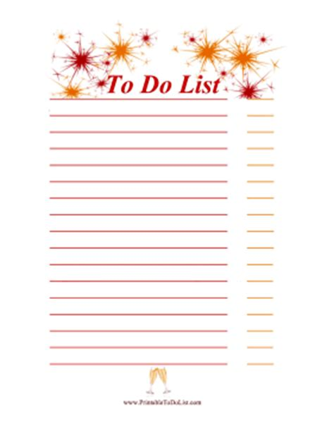 new year list new year to do list