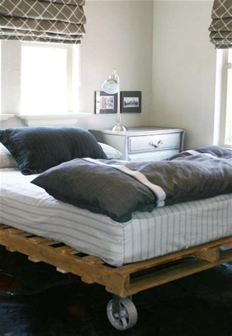 bed on pallets pallet addicted 30 bed frames made of recycled pallets