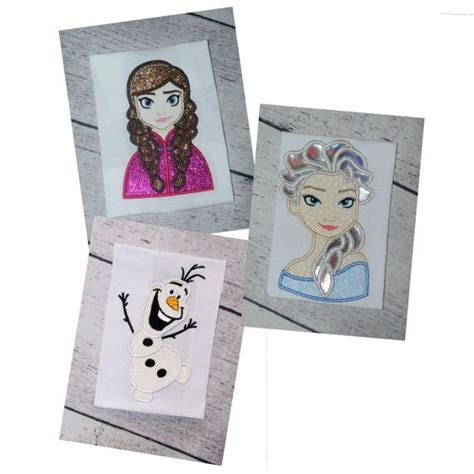 Instan Serut Annafi 1 frozen olaf and and elsa set applique embroidery