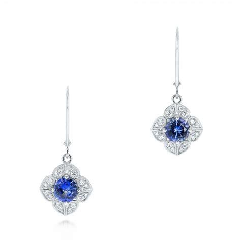 Blue Earring blue sapphire and drop earrings 103423