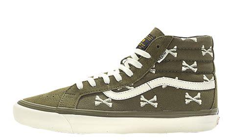 Vans Sk8 Hi Wtaps Crossbones vans vault x wtaps bones og sk8 hi lx olive the sole supplier