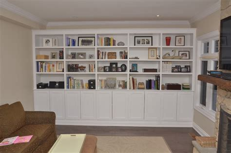 Living Room Storage Units | richmond hill living room storage unit traditional