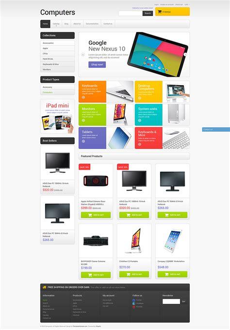 shopify themes sale computer sales shopify theme 51099
