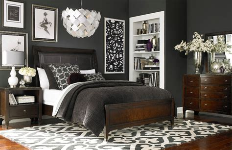cosmopolitan bedroom cosmopolitan leather sleigh bed by bassett furniture contemporary bedroom by bassett furniture