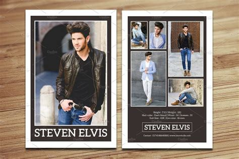 free model z card template 9 comp card templates free sle exle format
