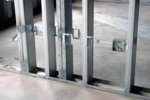 how to build a stud wall in a bathroom light gauge metal stud framing okumuş inşaat
